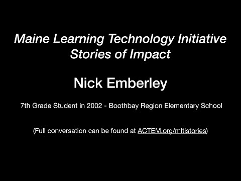Nick Emberley - 7th Grade student as the MLTI begins