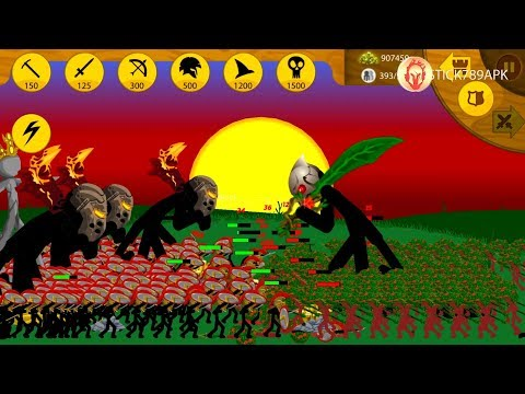 ❤️ CONQUER THE RED STICK EMPIRE SKIN LEAF Part 1 | Stick War: Legacy Mod Android Best Gameplay #FHD