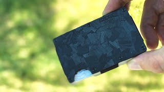 RIDGE Wallet Forged Carbon Unboxing