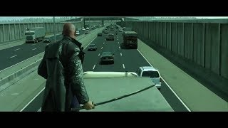 The Matrix Reloaded - Highway Chase [HD]