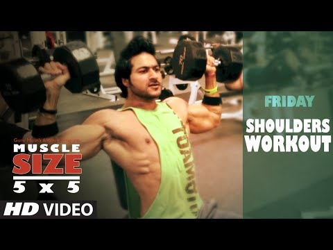 "Friday : SHOULDERS WORKOUT | ""MUSCLE SIZE 5x5"" PROGRAM by Guru Mann"