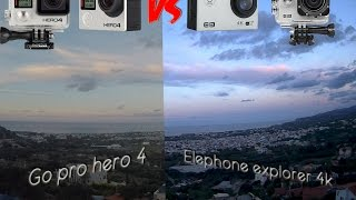Elephone ele explorer 4k vs GoPro hero 4 | Unboxing and reviewing the elephone (kind of)