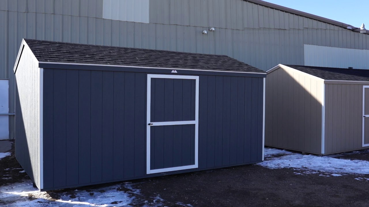 The Shed Yard - 10x16 Economy A Frame Shed Gray