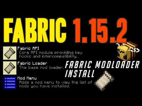 FABRIC 1.15.2 Minecraft - How To Download & Install Fabric Mod Loader 1.15.2 (on Windows)