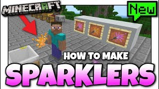Minecraft - COLORED SPARKLERS [ Tutorial ][ Chemestry ] MCPE / Xbox / Bedrock