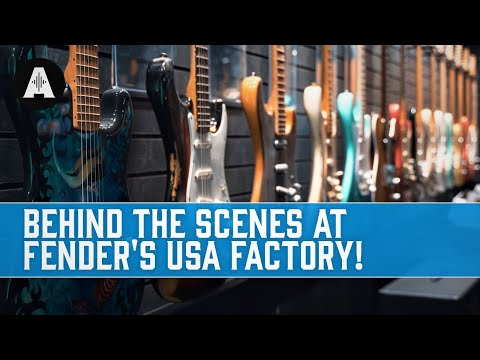 Behind The Scenes At The Fender USA Guitar Factory!