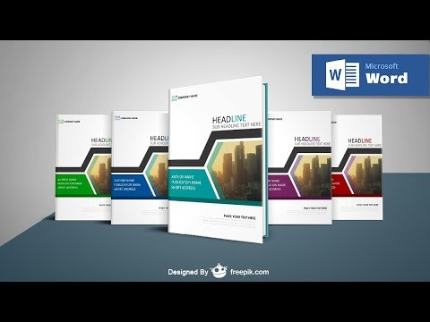 How to Make a Professional Book Cover In MS Word ✓ Cover Page