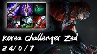 Korea Challenger Zed Mid vs SSG Crown | Perfect KDA | Korea High Elo
