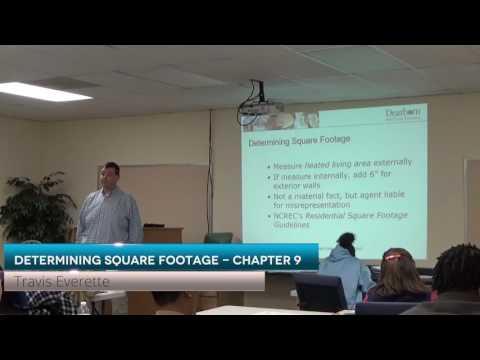 Prelicensing Determining Square Footage in North Carolina