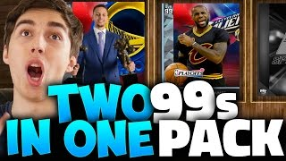 I PULLED 99 DIAMOND STEPH CURRY & LEBRON IN THE SAME PACK! NBA 2K16