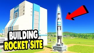 Giant City Builds ROCKET LAUNCH BASE | Cities: Skylines Gameplay