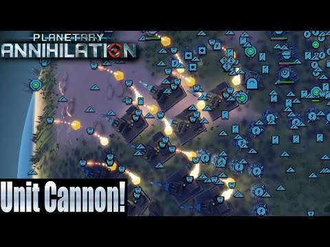 Planetary Annihilation 4 Player FFA - Unit Cannon