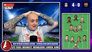CRAIG REACTS TO LIVERPOOL 4-0 BARCELONA