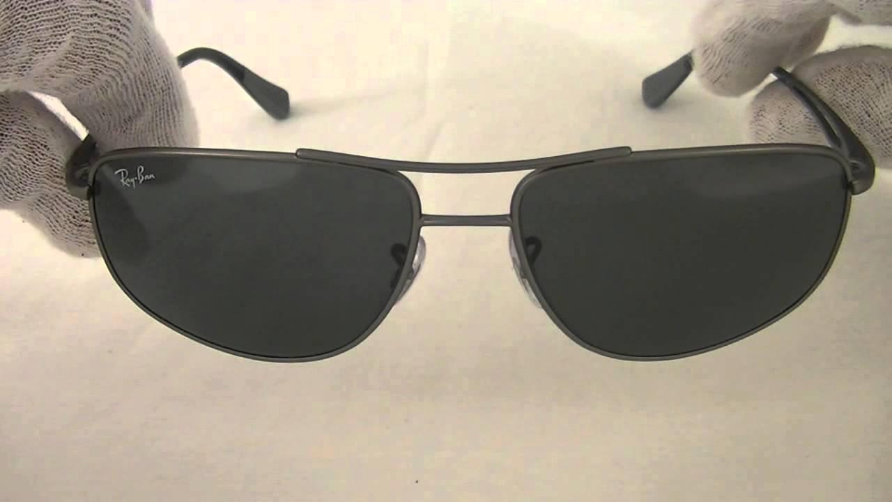 6099a93ea6d9 Ray Ban Rectangular Sunglasses RB3490 029 71 - YouTube