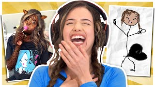 REACTING TO FAN ART - Pokimane