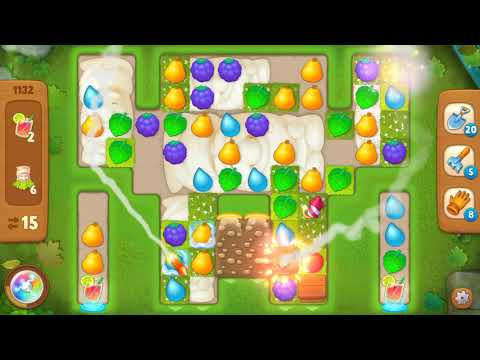 Gardenscapes Level 1132 With No Boosters - Super Hard Level - Bonus Scene With Austin