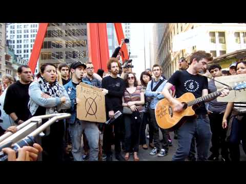 "Justin Sane Anti-Flag ""The Press Corpse"" at Occupy Wall Street"