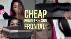CHEAP BUNDLES + 360 FRONTAL UNBOXING | DONMILY HAIR