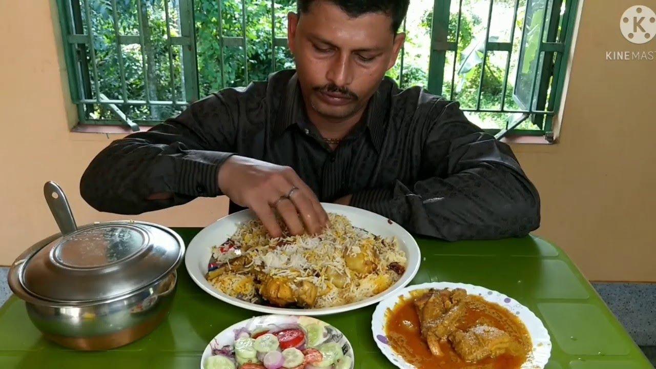 Eating Home Made Chicken Biryani with Chicken Chaap | Suvo Bijoya to All My Friends