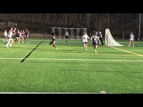 Sydney Lowe of the Park School of Baltimore w/a no-look bounce-shot goal for the Bruins