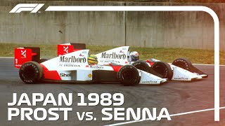 Ayrton Senna and Alain Prost's Championship Deciding Crash | 1989 Japanese Grand Prix