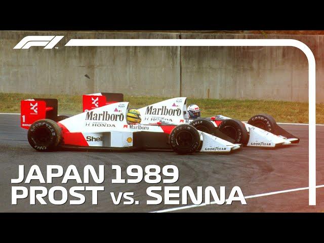Ayrton Senna and Alain Prost's Championship Deciding Crash | 1989 Japanese Grand Prix