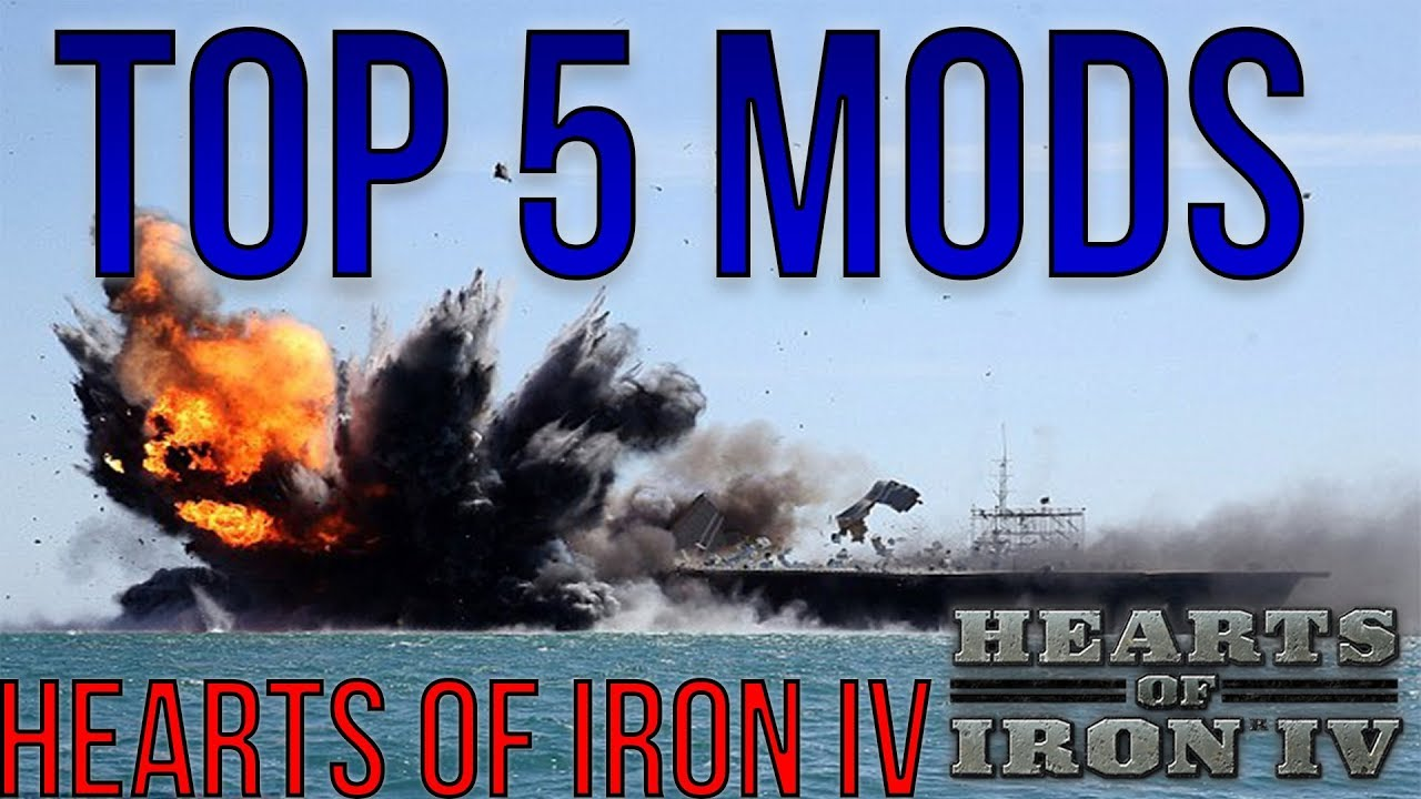 Best Mods in Hearts of Iron IV - (TOP 5) Mods MOD REVIEW [HOI4]