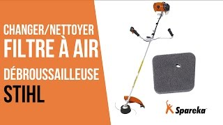 Comment changer ou nettoyer le filtre à air de sa débroussailleuse thermique Stihl ?