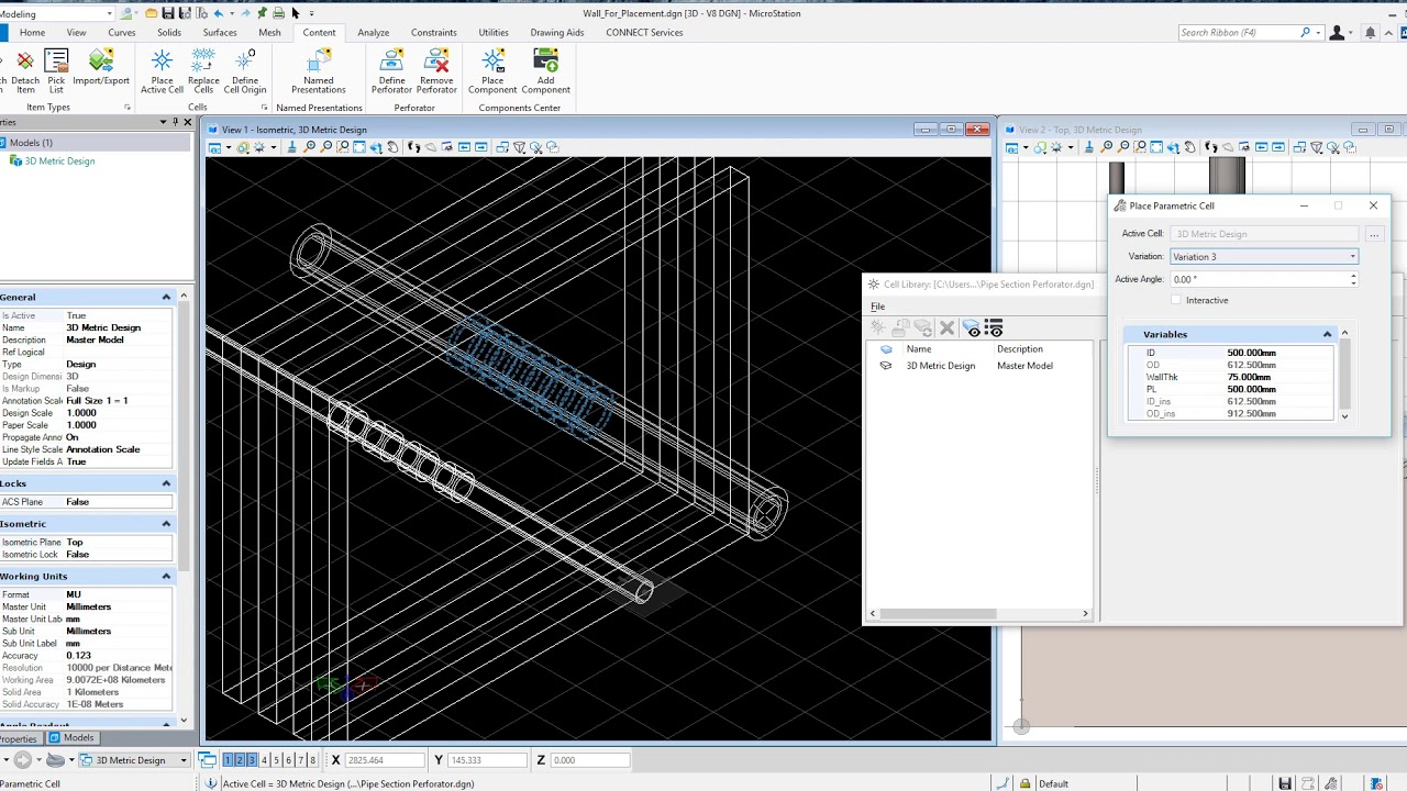 Perforators: new Tech Preview feature in MicroStation CONNECT
