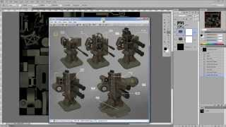 Урок 5-1. Фотошоп. Приемы текстурирования 3д моделей.