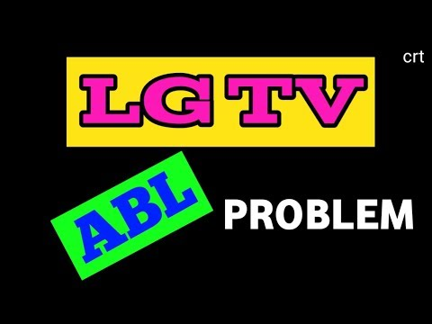 #Lgtv#ABL#Problem.How to solve lg crt tv ABL Problem.
