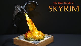 Sculpting Alduin As a Fire Breathing Lamp [Skyrim Edition]