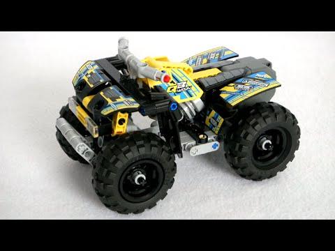 lego technic quad bike from lego youtube. Black Bedroom Furniture Sets. Home Design Ideas