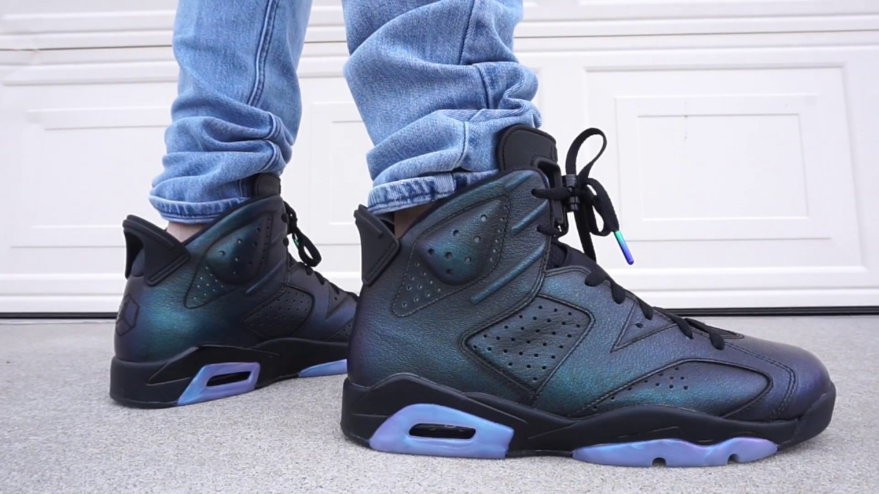 dd752f1640e204 AIR JORDAN 6 ALL STAR   CHAMELEON EARLY UP CLOSE ON FOOT REVIEW !!! -  YouTube