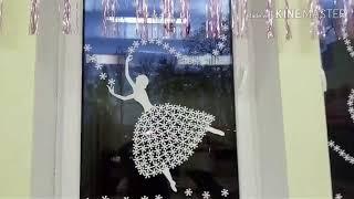 Новогодние украшения. Украшаем окна  к Новому Году!