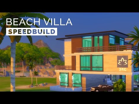 Sims 4  |  Speedbuild  |  Modern Beach Villa