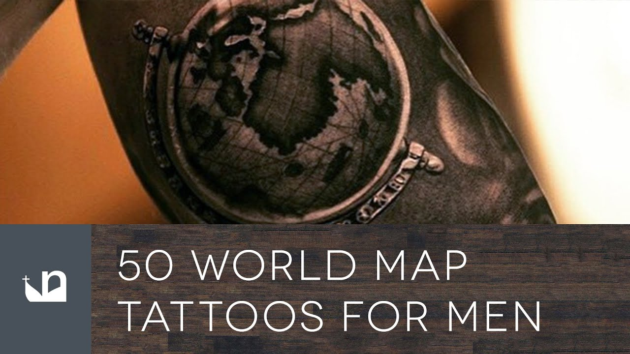 50 world map tattoos for men youtube youtube premium gumiabroncs Choice Image