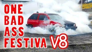 V8 Ford Festiva From Hell | Remembering the Burnout Monster | Theonomics