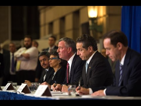 Mayor Bill de Blasio Hosts Press Conference with Governor Cuomo