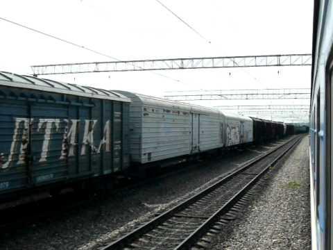 Отправление поезда 413 Челябинск-Минск из Плеханово