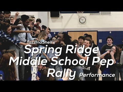 TazzInaShell Live Performance @ Spring Ridge Middle School Pep Rally