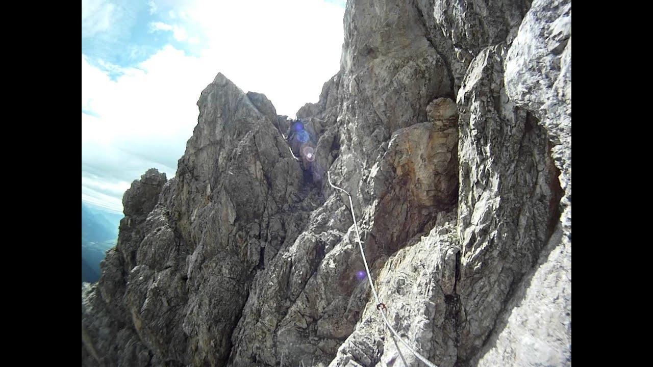 Klettersteig Wankspitze : Wankspitze klettersteig youtube