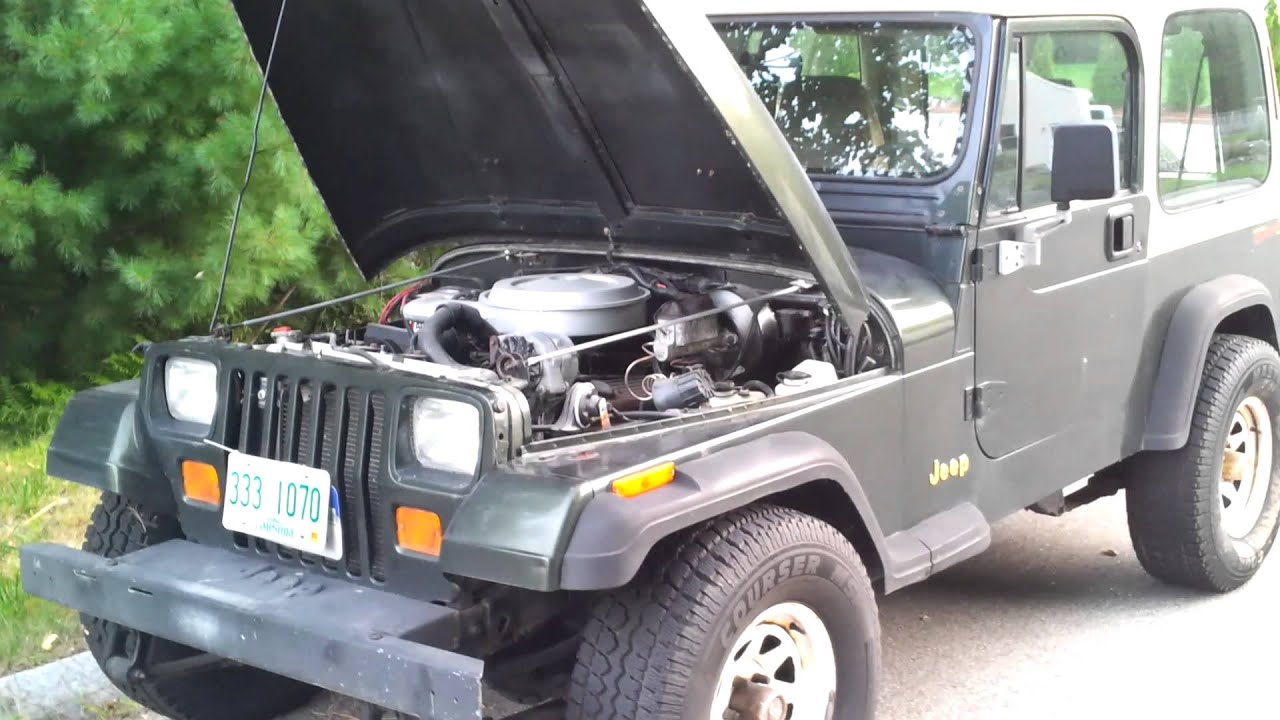 maxresdefault 1995 jeep wrangler yj with chevy tbi 350 youtube  at bayanpartner.co