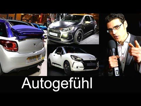 Premiere DS3 Facelift with DS Performance 208 hp & Cabriolet Citroen DS premium strategy interviews