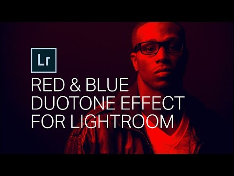 Create an AWESOME RED BLUE DUOTONE effect! Lightroom Tutorial