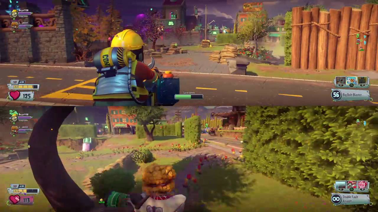 Splitscreen Mayhem!!! | Plants VS Zombies Garden Warfare 2 - clipzui.com