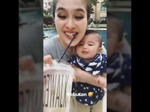 Baby RaphaelMoeis Geregetan karna Rebutan Coffe sama Momy Sandra Dewi…