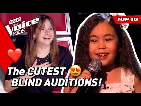 TOP 10 | The CUTEST Blind Auditions in The Voice Kids 😍❤️ (part 3)