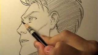 """How to Draw a """"Realistic"""" Manga Face in Profile [HTD Video #14]"""