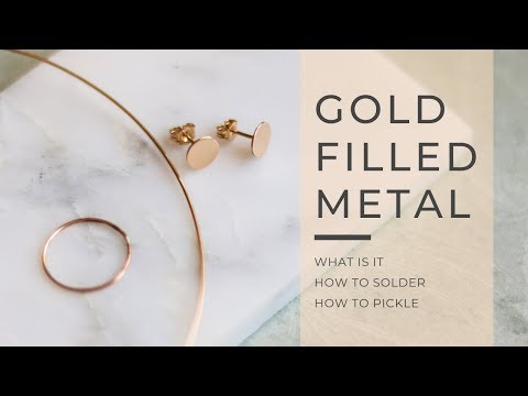 How to make gold filled jewelry - GOLD FILLED METAL basics